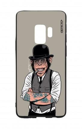 Cover Bicomponente Samsung S9 - Scimmia con bombetta