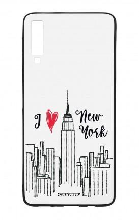 Cover Bicomponente Samsung A7 2018 - I love NY