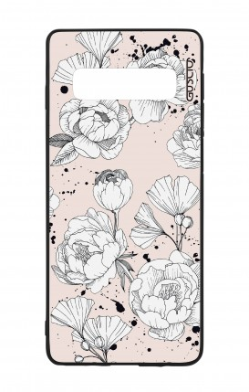 Samsung S10 WHT Two-Component Cover - Peonias