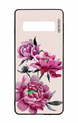 Samsung S10 WHT Two-Component Cover - Pink Peonias