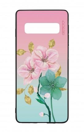 Cover Bicomponente Samsung S10 - Fiori rosa