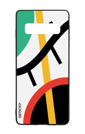 Samsung S10 WHT Two-Component Cover - White Abstract