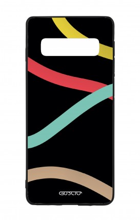 Samsung S10 WHT Two-Component Cover - Black Abstract