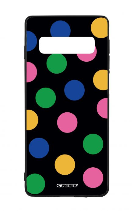 Samsung S10 WHT Two-Component Cover - Pink & Blue Polka dot