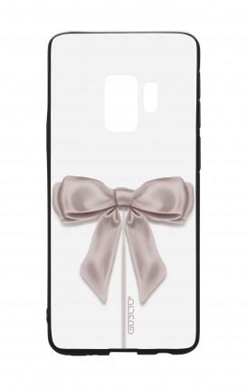 Cover Bicomponente Samsung S9Plus - Fiocco di raso bianco