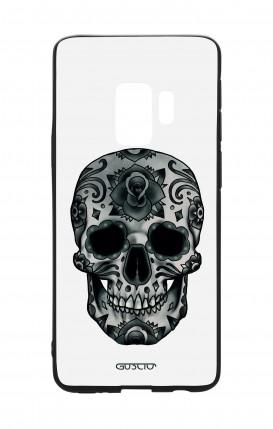 Samsung S9Plus WHT Two-Component Cover - WHT DarkCalaveraSkull