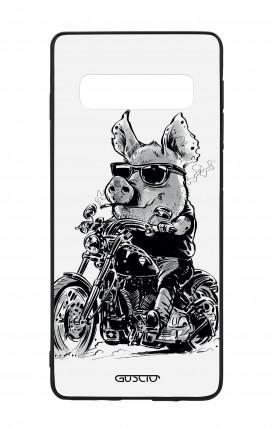 Cover Bicomponente Samsung S10 - Maiale biker