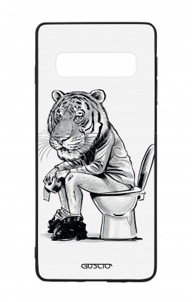 Samsung S10 WHT Two-Component Cover - Tiger on WC