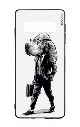 Samsung S10 WHT Two-Component Cover - Business dog