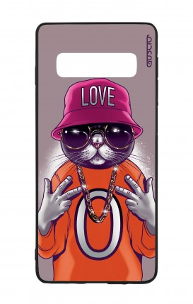 Cover Bicomponente Samsung S10 - Gatto LOVE