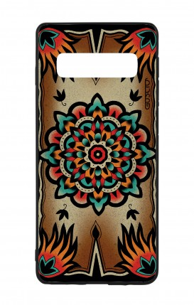 Cover Bicomponente Samsung S10 - Old school Tattoo frame