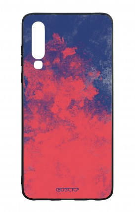 Huawei P30 WHT Two-Component Cover - Mineral Red Blue