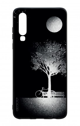 Huawei P30 WHT Two-Component Cover - Moon and Tree