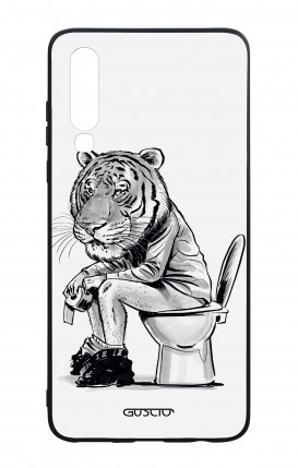 Huawei P30 WHT Two-Component Cover - Tiger on WC