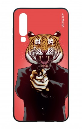 Huawei P30 WHT Two-Component Cover - Tiger with Gun