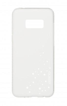 Cover Diamonds Samsung S8 TPU TRS - Cascata di stelle bianco