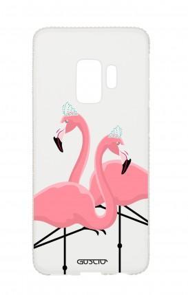 Samsung S9 Diamonds cover - Nude Flamingos