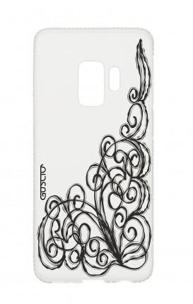 Samsung S9 Diamonds cover - WHT Lace Chocolate