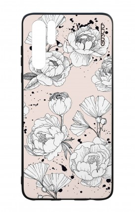 Huawei P30PRO WHT Two-Component Cover - Peonias