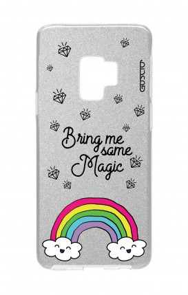 Cover GLITTER Samsung S9 SLV - Raimbow magic