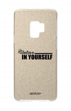 Cover GLITTER Samsung S9Plus GLD - credi in te stesso