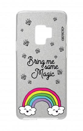 Cover GLITTER Samsung S9Plus SLV - l'arcobaleno magico