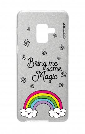 Cover GLITTER Samsung A8 2018 SLV - l'arcobaleno magico