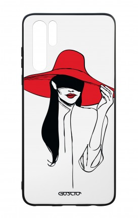 Huawei P30PRO WHT Two-Component Cover - Red Hat