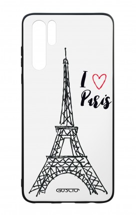Huawei P30PRO WHT Two-Component Cover - I love Paris