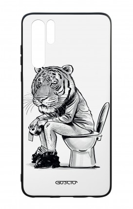 Huawei P30PRO WHT Two-Component Cover - Tiger on WC