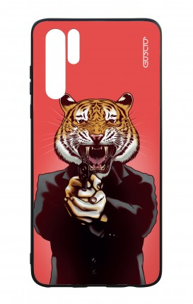 Huawei P30PRO WHT Two-Component Cover - Tiger with Gun