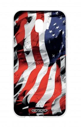 Cover Samsung J4 - Used America Flag