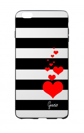 Apple iPhone 6 PLUS WHT Two-Component Cover - Loving Stripes