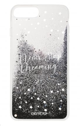 Cover GLITTER Liquid Apple iPhone 6 / 6s / 7/8 BLACK - Never Stop Dreaming