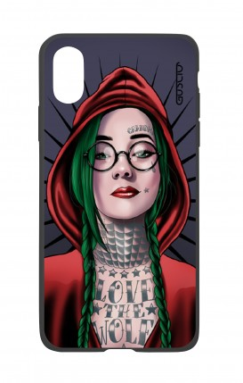 Cover Bicomponente Apple iPhone XS MAX - Cappuccetto rosso tatuata