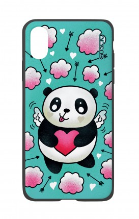 Apple iPh XS MAX WHT Two-Component Cover - Cupid Panda