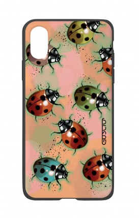 Apple iPh XS MAX WHT Two-Component Cover - Lady bugs