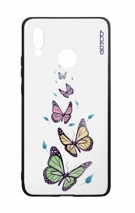 Huawei P20Lite WHT Two-Component Cover - WHT Butterflies&Leaves