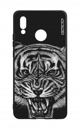 Huawei P20Lite WHT Two-Component Cover - Black Tiger
