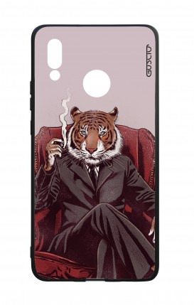 Huawei P20Lite WHT Two-Component Cover - Elegant Tiger