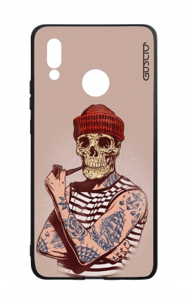 Huawei P20Lite WHT Two-Component Cover - Skull Sailor with Red Cup