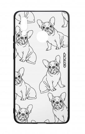 Cover Bicomponente Huawei P20Lite - Bulldog francese pattern