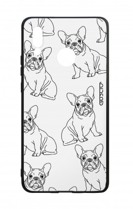 Huawei P20Lite WHT Two-Component Cover - French Bulldog Pattern