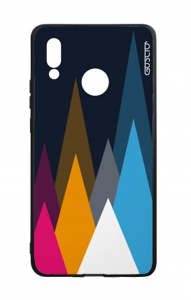 Cover Bicomponente Huawei P20Lite - Cime su fondo Blu