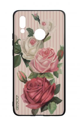 Huawei P20Lite WHT Two-Component Cover - Roses and stripes
