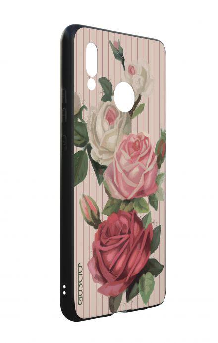 Cover Bicomponente Huawei P20Lite - Rose e righe