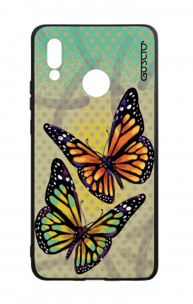 Huawei P20Lite WHT Two-Component Cover - Polka dot and butterflies