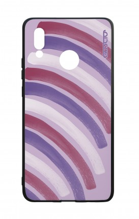 Huawei P20Lite WHT Two-Component Cover - Pink Stripes