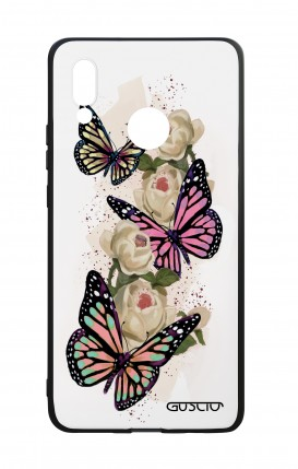 Huawei P20Lite WHT Two-Component Cover - Butterflies white