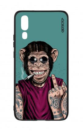 Cover Bicomponente Huawei P20 - Scimmia felice
